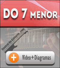 acorde Do menor septima guitarra
