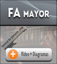 Acorde Fa mayor guitarra