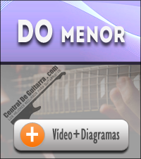 acorde Do menor guitarra